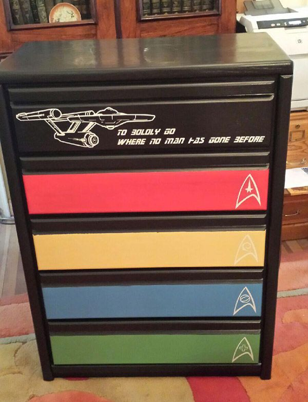 I think that I absolutely NEED this star trek dresser to come into my life ... SOON