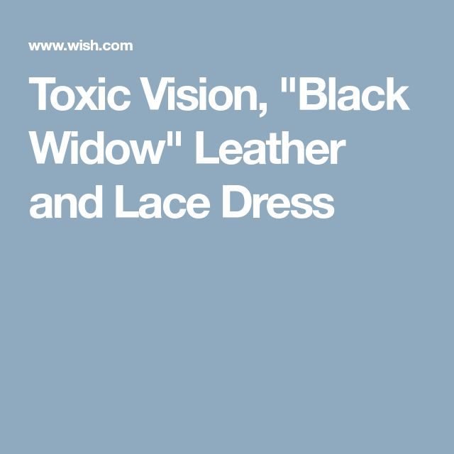 """Toxic Vision, """"Black Widow"""" Leather and Lace Dress"""