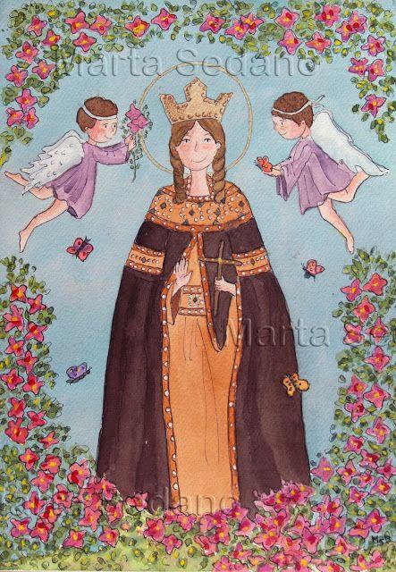 Santa Irene ilustrated by Marta Sedano