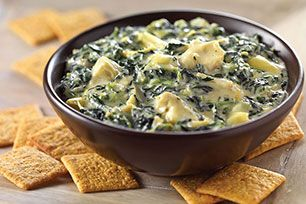 This spicy spinach dip gets its kick from diced tomatoes & green chilies—and its smooth, creamy texture from VELVEETA and cream cheese.