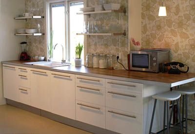 Wooden or wood look benchtop laminate aluminium edge for Kitchen benchtop ideas