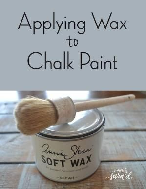 Applying Wax to Chalk Paint - video tutorial by deidre