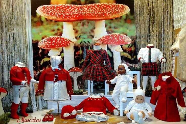 Otoño rojo  #modainfantil #bebé #ropabebé #kauli #laamapola #escaparates