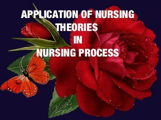 Application of nursing theories