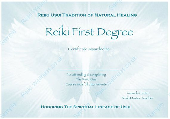17 best reiki healing therapist images on pinterest for Reiki certificate template software