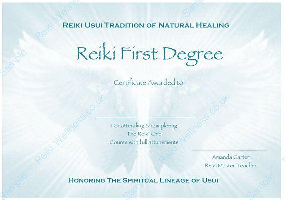 reiki level 1 certificate template 17 best reiki healing therapist images on pinterest