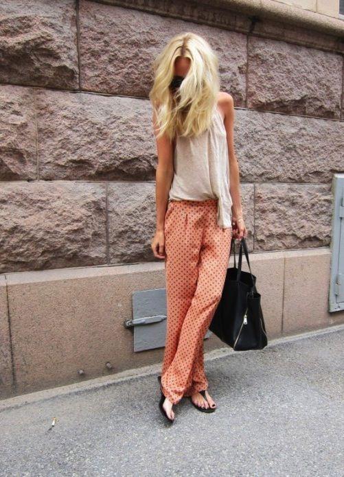 slouchy pantsFashion, Prints Pants, Polka Dots, Summer Outfit, Clothing, Street Style, Pajamas Pants, Elin Kling