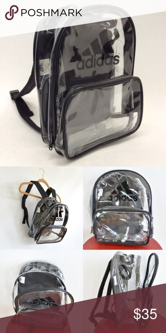 Adidas Clear Backpack Adidas Clear Backpack. Great condition, only used a few times. Adidas Bags Backpacks