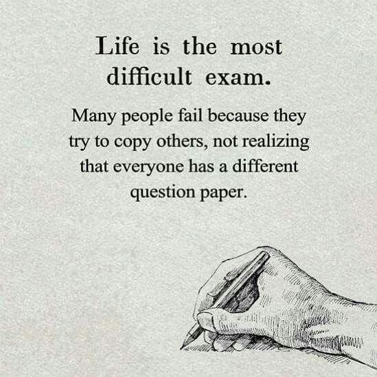 Das Leben ist die schwierigste Prüfung. Viele Leute scheitern, weil sie … www.Funktional