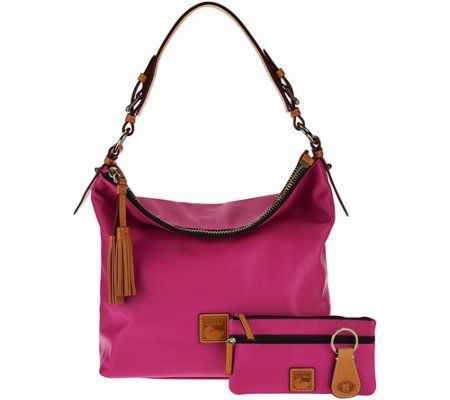 Dooney & Bourke Smooth Leather Hobo with Accessories