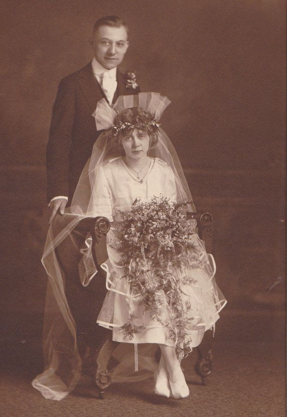 Roaring 20s Bride and Groom Wedding Fashions by EphemeraObscura