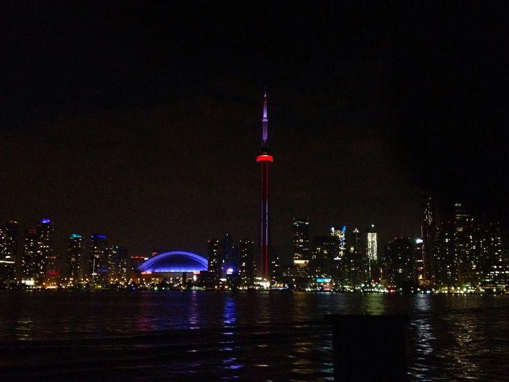 #Toronto #Island #Night #Skyline #Downtown #CNTower
