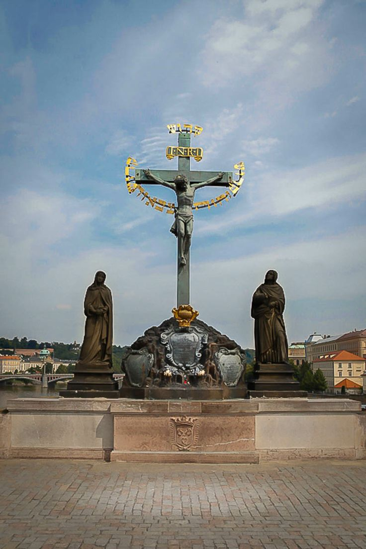Statue on the Charles Bridge, Prague, Czech Republic