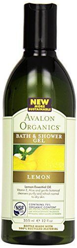 Avalon Organic Botanicals Bath  Shower Gel Lemon 12 oz * To view further for this item, visit the image link. (Note:Amazon affiliate link)
