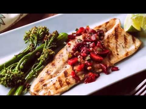 Grilled Clear Springs® Rainbow Trout Fillets with Cherry Salsa