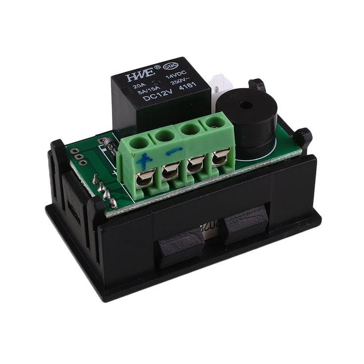DC 12 V 20A Digital Thermostat Relay Kontrol DIY Cerdas Suhu Controller w/Sensor 0.1 Celcius Akurasi