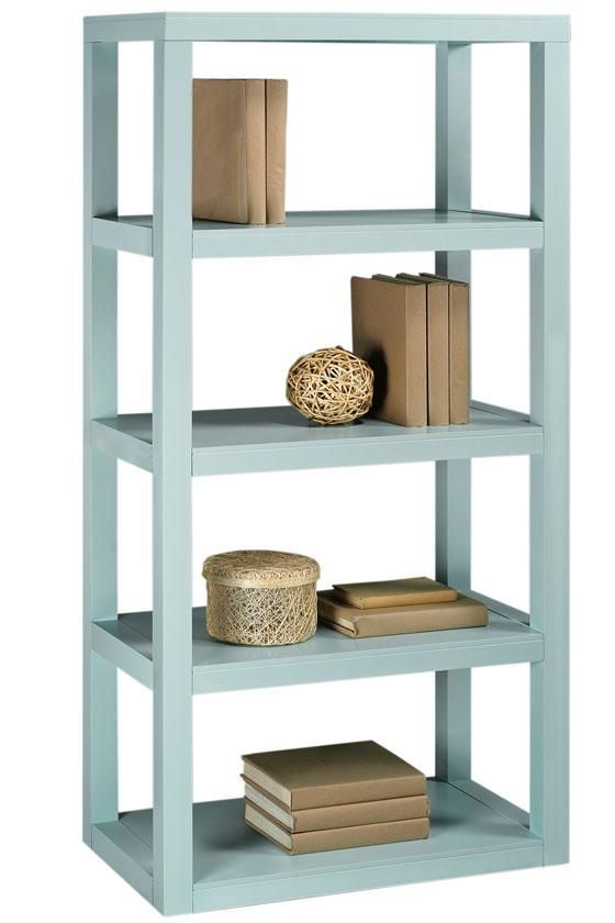 Home Decorators Collection Parsons 62 In. W Blue Bookcase