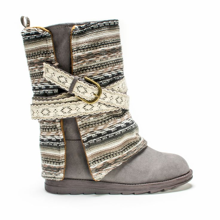 Make a statement with every step you take this year wearing our MUK LUKS'  Nikki Belt Wrapped Boot. This unique style features a polyester faux suede  upper ...