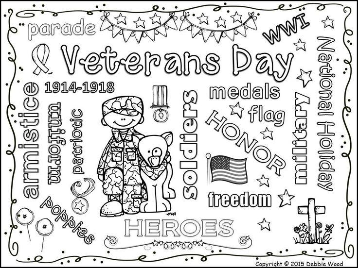 Veterans Day Freebie Vocabulary Word Art Fun Debbie