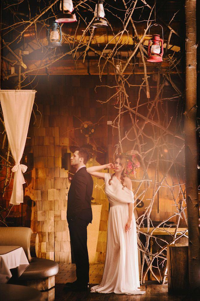 Indoor Forest Wedding Shoot