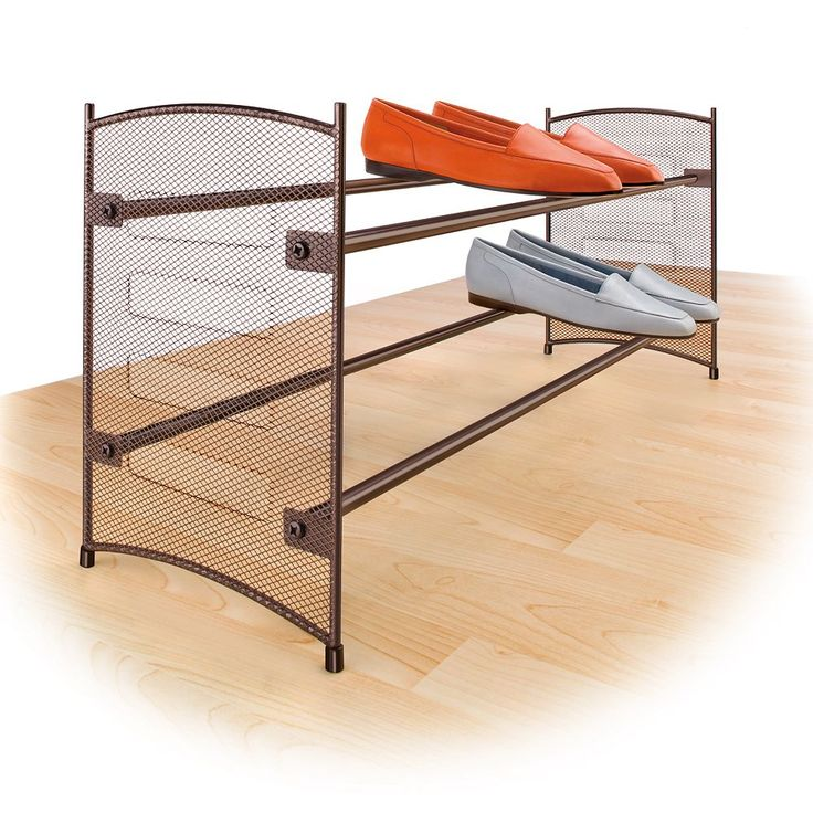 Lynk Expandable Stackable Shoe Rack, Brown
