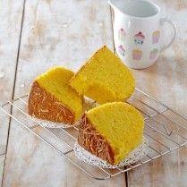 Cake labu kuning keju, kelezatannya sungguh menggugah selera, Yuk, lihat resepnya.