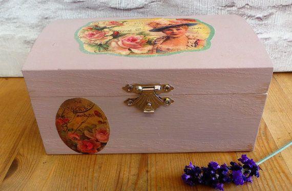 Taupe Wooden Jewelry Box, Keepsake Box, Jewellery Boxes, Jewellery Box, Women Jewelry Box, Bathroom Storage, Jewelry Box, Wood Box, Gift