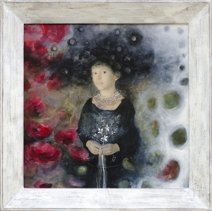 Hanna / Introspection series mixed media/canvas 2014