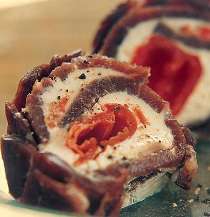 Biltong peppadew terrine [ NYBiltong.com ] #biltong #recipe #flavor