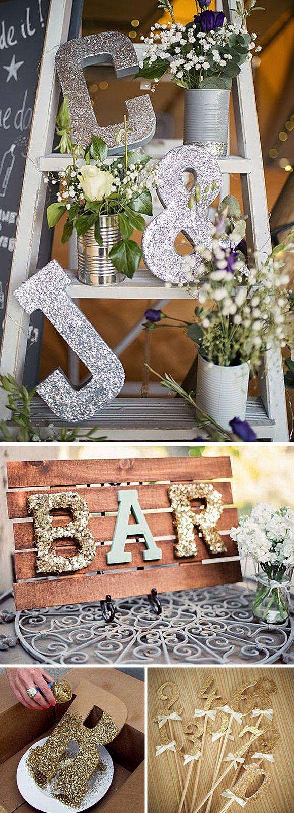 Purpurina para decorar tu boda