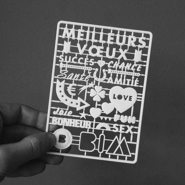 BIM Agency 3D Printed Greeting Card 3D