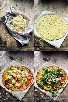 Mais pourquoi est-ce que je vous raconte ça... Dorian cuisine.com: L'aventure pizza continue ! Et si la pâte n'était plus vraiment une pâte ? Cauliflower et fresh pizza au menu !