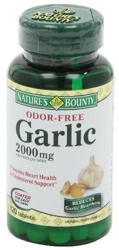 Nature's Bounty Garlic, 2000mg, Odor-Free, 120 Tablets (Pack of 4)   Multi City Health  List Price: $25.24 Discount: $5.76 Sale Price: $19.48