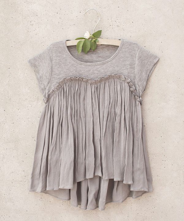 Look at this Opal Gray Brianna Top - Toddler & Girls on #zulily today!