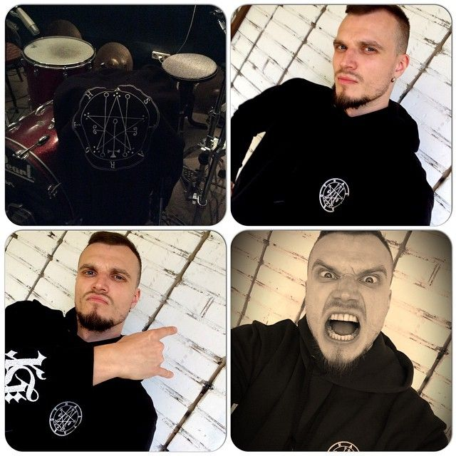 """Kirill """"The Crow"""", vocalist of #gothic rock band The Guests knows that the key of successful rehearsal is his favourite Astaroth hoodie #666 #goth #nugoth #ghettogothic  #healthgoth #metal Street goth, health goth, ghetto goth stuff"""