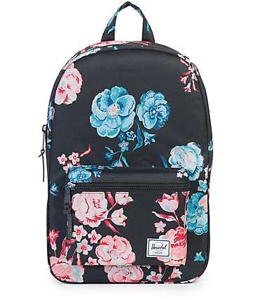 Herschel Settlement Pastel Petals Black 17L Backpack