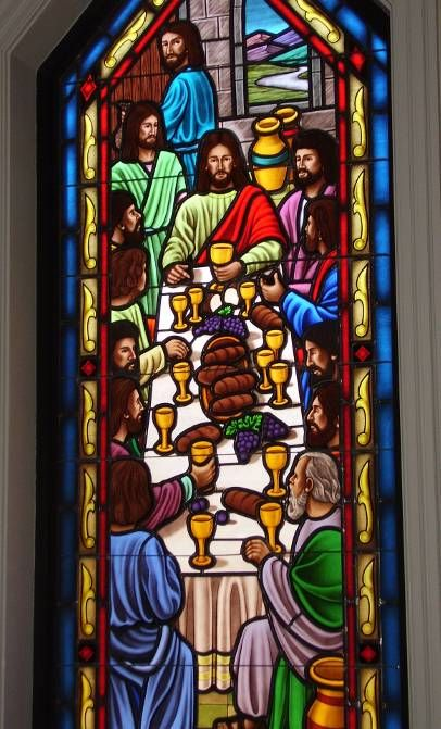 Stained Glass Windows at Bethany Christian Church in Arapahoe, NC