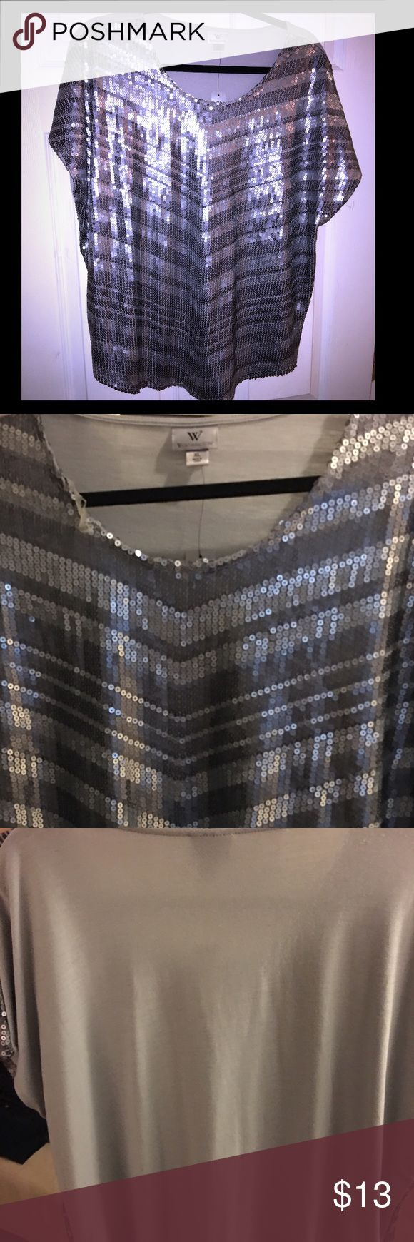 Nwt sequin chevron blouse xl Nwt worthington blouse. Size xl. Worthington Tops Blouses