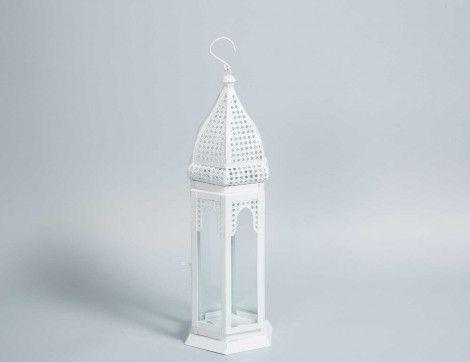 Moroccan White Lantern