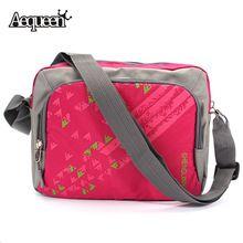 Hot Women Men Shoulder Bag Nylon Waterproof Travel Zipper Messenger Casual Crossbody Bags Newest Pattern