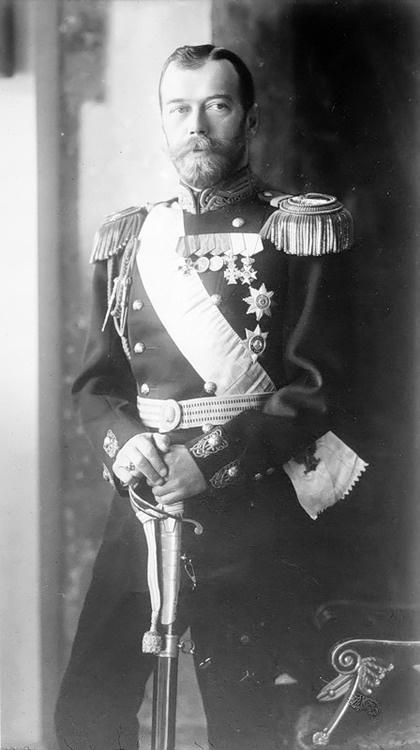 Tsar Nicholas II of Russia. The end of the Romanov Dynasty