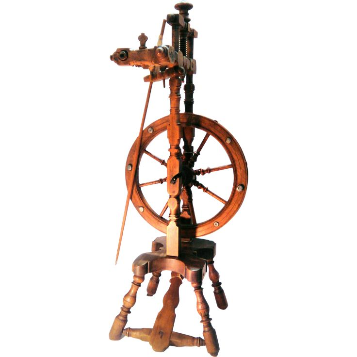 19th Century French Spinning Wheel