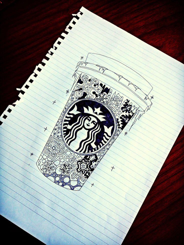 Starbucks Drawing | Starbucks Love | Pinterest | Dads, How ...