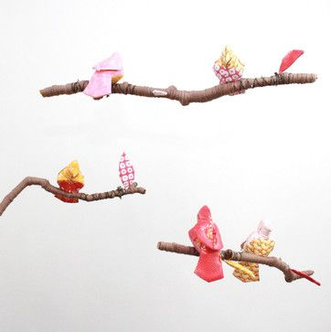 Baby Jives Fabric Bird Mobile eclectic mobiles