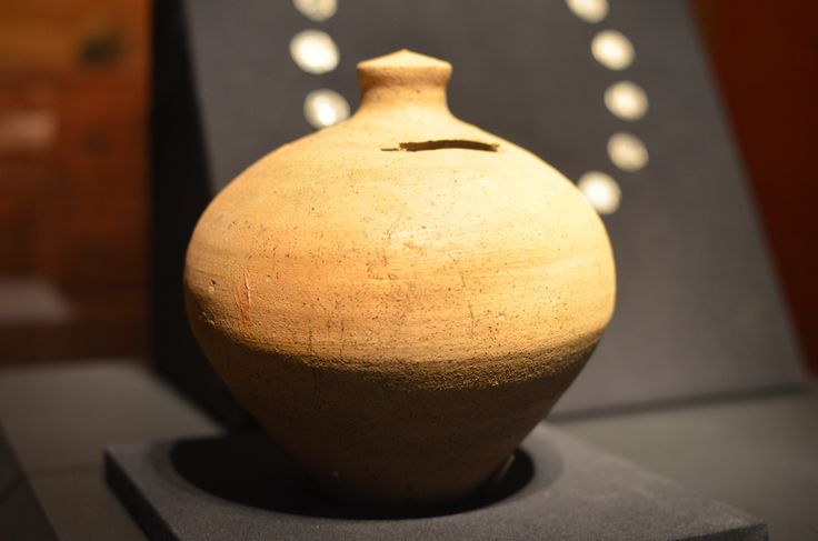 "Bank, Pompeii, Terracotta, 1st Cent C.E.  This ""Piggy bank"" held personal savings.  Household money and savings were typically secured in the family safe located in the atrium."