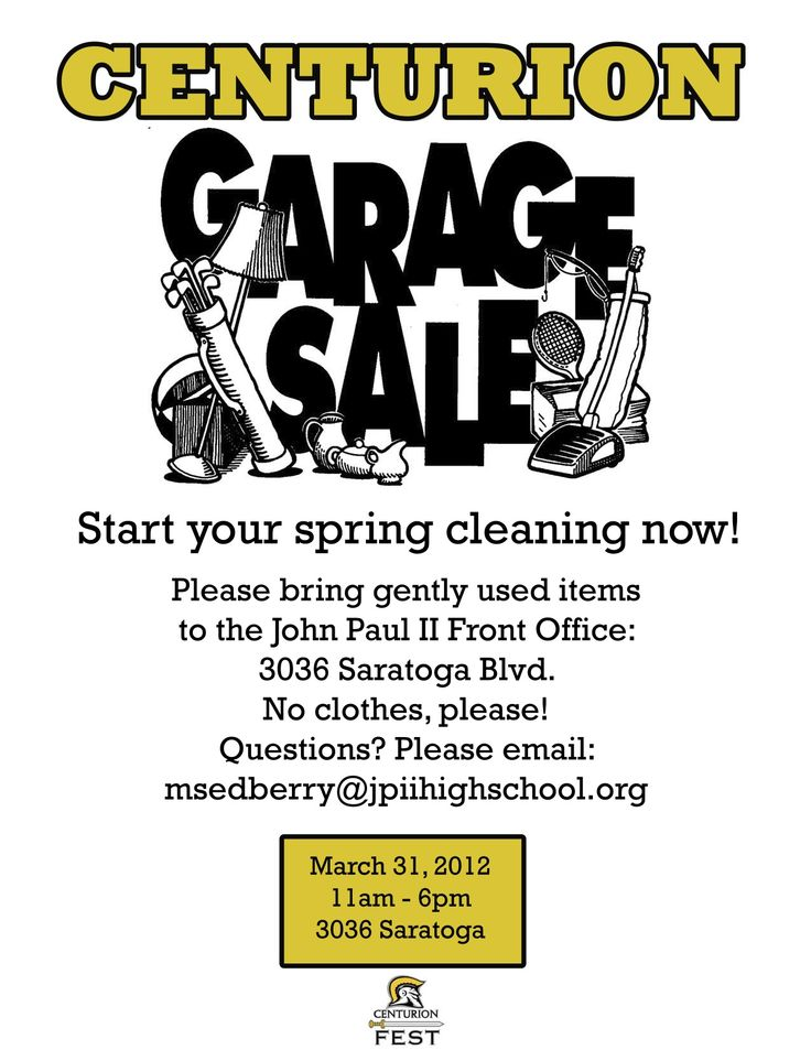 Garage Sale Flyer Template  MayotteOccasionsCo