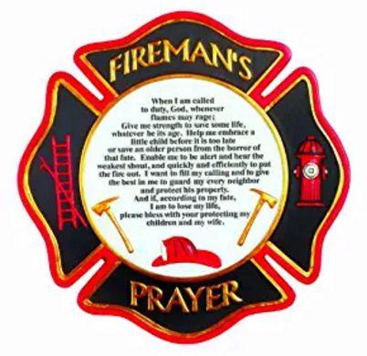 Distinguished Fireman's Prayer Stepping Stone