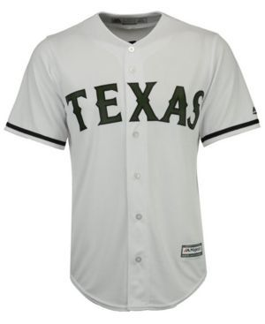 Majestic Men's Texas Rangers Usmc Cool Base Jersey - White M