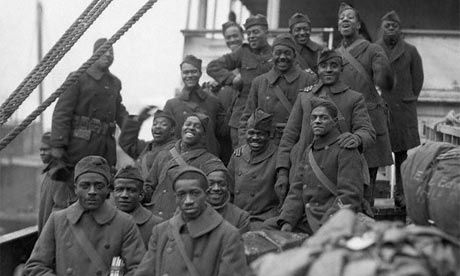 The arrival of the 369th black infantry regiment in New York after the first world war. Photograph: Bettmann/Corbis