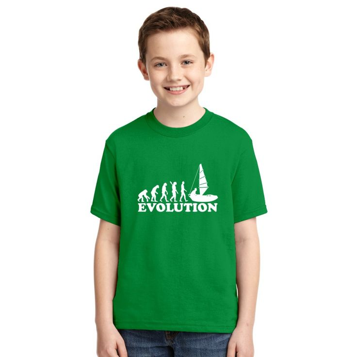 Evolution Of Man Sailing Youth T-shirt